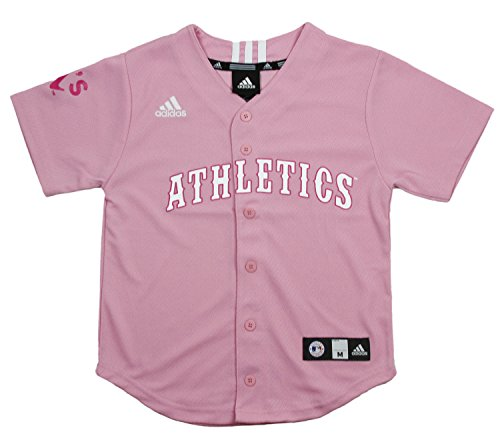 Oakland Athletics MLB Big Girls Screen Printed Jersey, Pink – DiZiSports Store