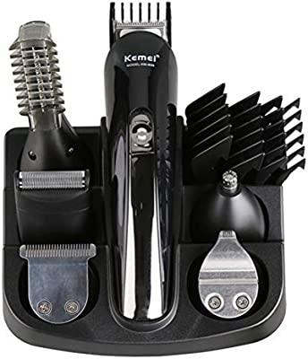 Jingya 6 en 1 afeitadora eléctrica sin Cable cortadora de Cabello ...