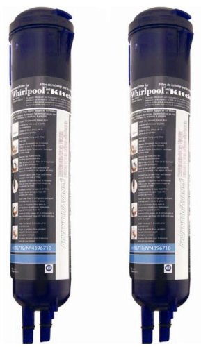 Whirlpool 4396710P KitchenAid PUR Push Button Cyst-Reducing Side-by-Side Refrigerator Water Filter 2-Pack