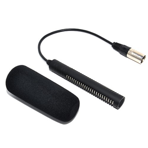 JJC MIC-2 Microphone for SONY HVR-A1U A1N V1U S270N Z7U Z7N Z1C as ECM-NV1 for PANASONIC HMC-153MC HMC-173MC 180B 203MC as AJ-MC700P