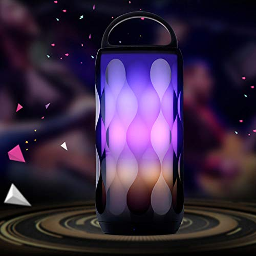 Price comparison product image JDgoods LED Colorful Wireless Bluetooth Speaker Portable Atmosphere Lamp Key Subwoofer Color Gradient Eon Light With Music Rhythm