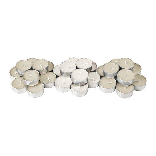 IKEA SINNLIG Scented tealight, Vanilla Pleasure candles 30pack