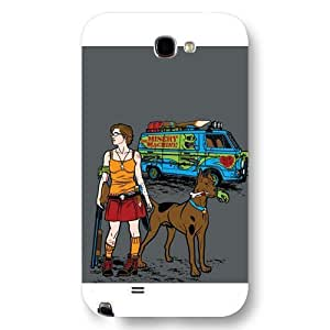UniqueBox Scooby Doo Custom Phone Case for Samsung Galaxy Note 2, DC comics Scooby Doo Customized Samsung Galaxy Note 2 Case, Only Fit for Samsung Galaxy Note 2 (White Frosted Shell) WANGJING JINDA