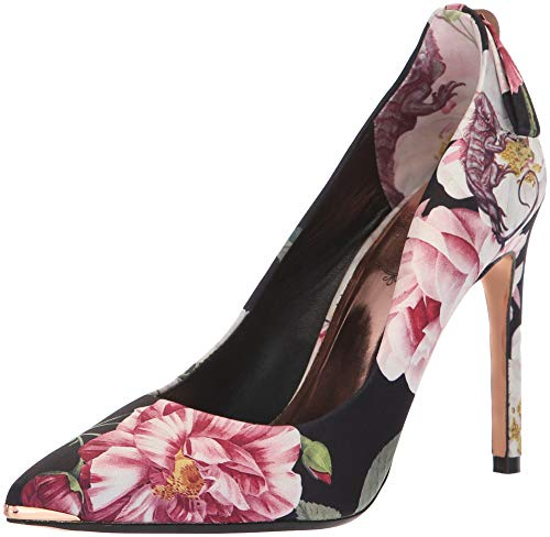 Ted Baker Women's LIVLIAP Pump, Black Iguazu Satin, 10 Medium US (Baker Print Ted Dress)
