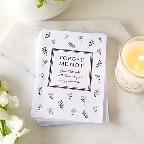 Seed Packets Me Not Forget (ANGEL & DOVE 25 Unfilled Forget Me Not Seed Packet Funeral Favor Envelopes)