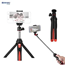 Andoer Benro MK10 Handheld Extendable Mini Tripod Selfie Stick with Bluetooth Remote Control Shutter for IOS iPhone 5s/6s/6s Plus & Android Smartphone Cellphone for Gopro