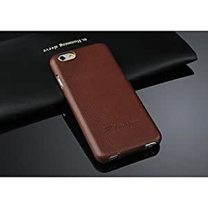 HaleyL-Lychee Genuine Leather Flip Case for iphone 6 Plus 5.5 with Gift Box, (Assorted Colors),Black