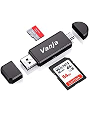 Vanja USB Card Reader, USB 3.0/Type C/Micro USB SD/Micro SD Card Reader OTG Adapter