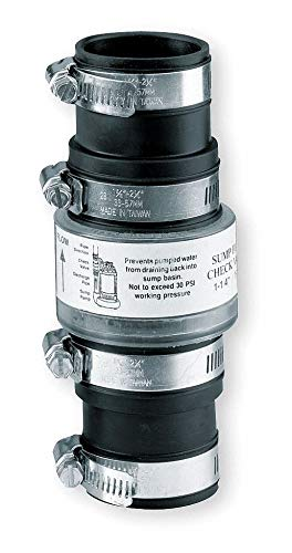 Dayton 1-1/4'' or 1-1/2'' Check Valve, TPR, Slip Union Connection Type - 4UN79