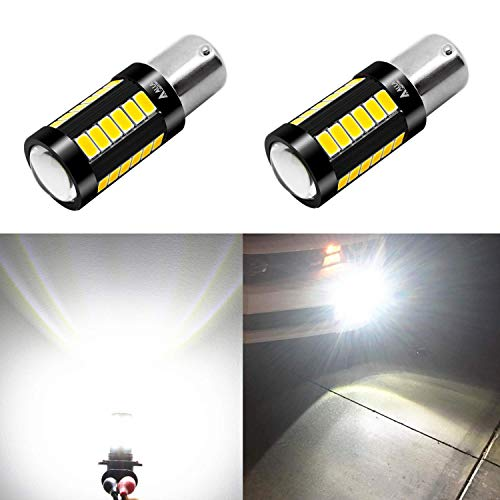(Alla Lighting 2800lm 7506 1156 LED White LED Bulbs Xtreme Super Bright BA15S 7506 1156 LED Bulb 5730 33-SMD LED 1156 Bulb for Back-Up Reverse/Turn Signal/Brake Stop Tail Lights, 6000K Xenon White)