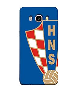 ColorKing Football Croatia 06 Blue shell case cover for Samsung J5 2016