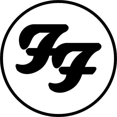 FOO FIGHTER ROCK BAND FF LOGO STICKER SYMBOL 5.5' DECORATIVE DIE CUT DECAL Rock n Roll - BLACK