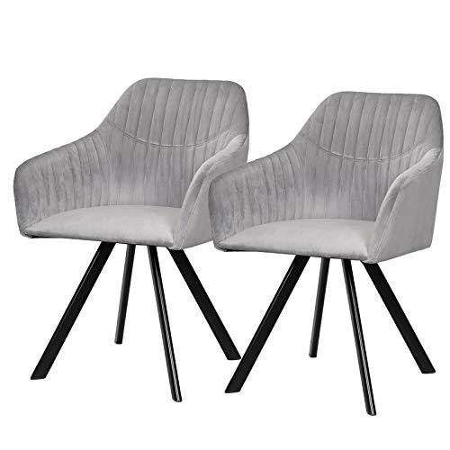 eSituro DC56 - Juego de 2 sillas de Comedor para Cocina ...