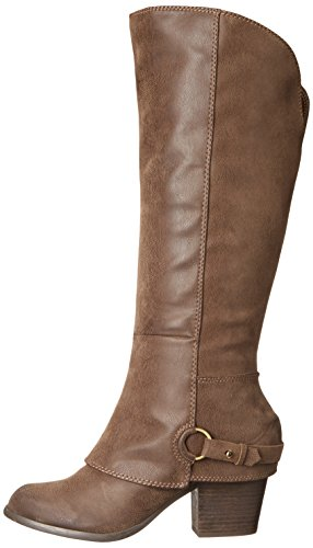 Stiefel Fashion Frauen Pumps Taupe Leder Wadenoeffnung Wc Rund Weite x1wwYqpv