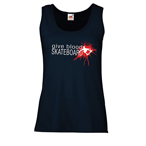 lepni.me Camisetas sin Mangas para Mujer Give Blood Skateboard! - Citas  Divertidas de 6167fc3592cd2
