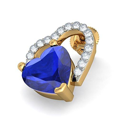 Or jaune 18K 0.16CT TW White-diamond (IJ | SI) et tanzanite Boucles d'oreille à tige