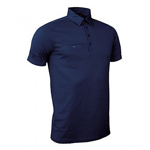 Glenmuir Mens Pocket Polo Shirt (XL) (Navy)
