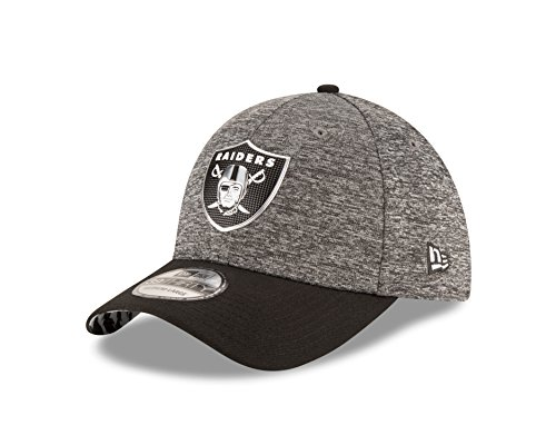 Raiders Draft Cap (NFL Oakland Raiders 2016 Draft 39Thirty Stretch Fit Cap, Small/Medium, Heather Gray)