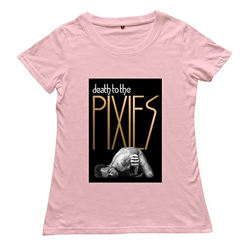 Goldfish Women's Hot Topic O Neck Pixies T-Shirt Pink US Size L