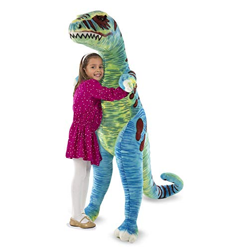 Melissa & Doug Jumbo T-Rex Dinosaur - Lifelike Stuffed Animal (over 4 feet -