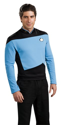 Star Trek the Next Generation Deluxe Blue Shirt, Adult Large (90s Tv Halloween Costumes)