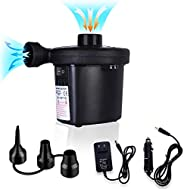 Portable Electric air Pump, for Household Cars, Suitable for air beds, Hovercraft, Balloons, Swimming Rings, I