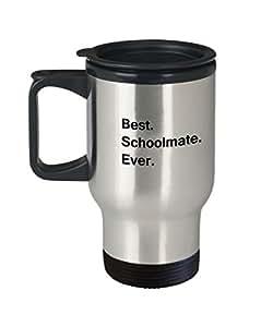 Best Schoolmate Ever Travel Mugs - Gift from Friends, Funny Valentine Travel Mugs - Porcelain mugs, Best Office Travel Tea Mug & Birthday Gag Gifts 14