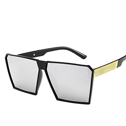 Alloy Eyeglass Frame (ZOMUSAR Sunglasses,Fashion Unisex Oversized Square Sunglasses Vintage Retro Sun Glasses (A))
