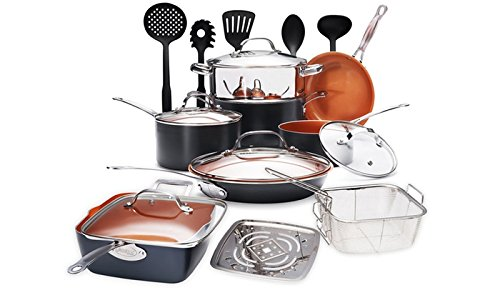 Gotham Steel 1927 Cookware Set, Large, Brown by GOTHAM STEEL
