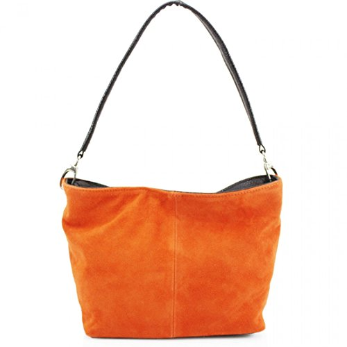 57 Leahward Suede Real Women's Shoulder Bag Handbags Orange Leather WxPZgW4rR