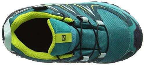 Salomon XA Pro 3D CSWP J, Zapatillas de Running Unisex Niños Turquesa (Deep Peacock Blue/Ceramic/Lime Punch)