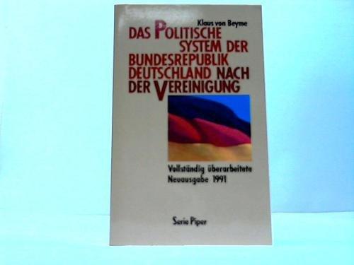 Das politische System der Bundesrepublik Deutschland nach der Vereinigung. Eine Einführung