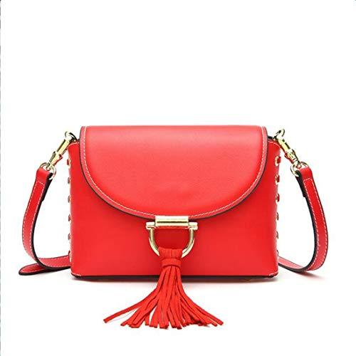 Borsa Viaggio color Da Bag A Vintage Nappa Red Donna Anglayif Shopping Brown Con Per Tracolla fqnfHd