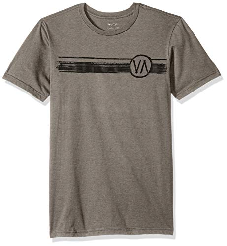 - RVCA Men's Off Track Short Sleeve Crew Neck T-Shirt, Grey Noise M