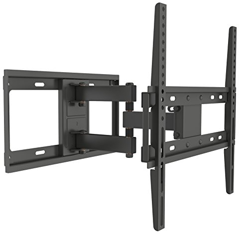 Husky Mounts Full Motion TV Bracket Fits Most 32 - 55 Inch LCD LED Flat Screen Articulating Tilt Swivel TV Wall Mount Corner Friendly