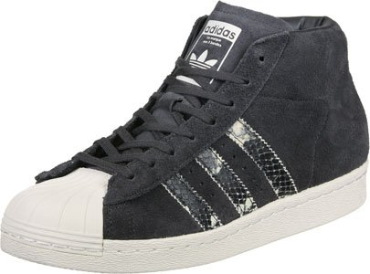 adidas Femme, Pro Model, Suede/Cuir, Sneakers Hautes, Gris