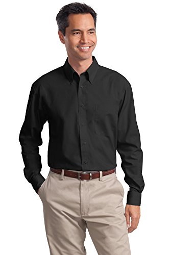 Port Authority Men's Port Authority Long Sleeve Value Poplin Shirt. XL (Value Poplin Shirt)