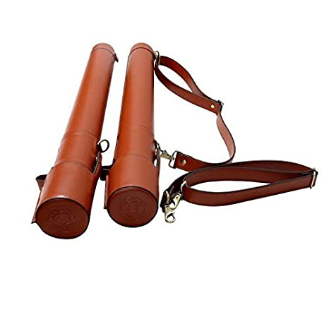 Amazon.com : QI Leather Fly Fishing Rod Tube/Case Travel ...