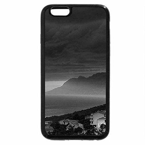 iPhone 6S Plus Case, iPhone 6 Plus Case (Black & White) - Beautiful Sunset