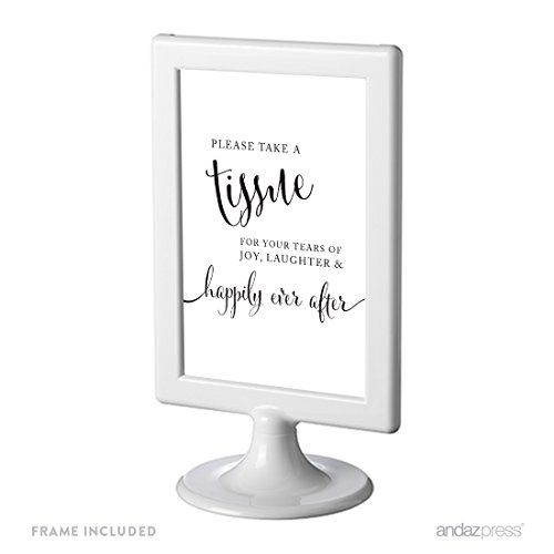 Andaz Press Framed Wedding Party Signs, Black and White M...