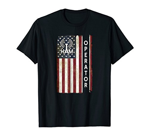 Ham Radio Operator Shirt 4th July American Flag Veteran Gift