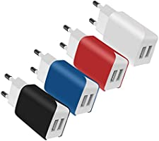 4 Port USB Ladeger?t Wand Ladeadapter, 20W Home Reise Universal Portable USB Wall Charger f¨¹r iPhone X 8 7 7 Plus 6S...