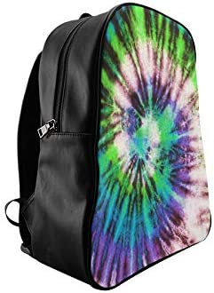 Colourful Tie Dyed Abstract Fashion Bags For Women College School Bag Casual Daypack Print Zipper Students Unisex Adult Teens Gift