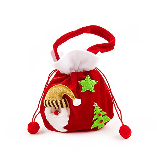 [Geekercity Santa Sack - Christmas Gift Bag - Holiday Christmas Party Decoration Xmas Candy Gift Filler Sack] (Cute Halloween Names For Kittens)