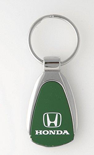 Keychain & Keyring with Honda Logo - Green Teardrop
