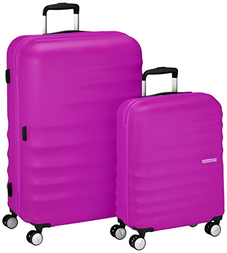 American Tourister Wavebreaker Set di Valigie 2 Pezzi, Hot Lips Pink, 96 ml, 77 cm