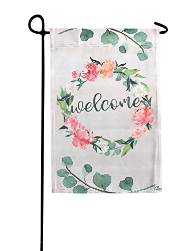 Garden Flag - Welcome Flower Double Sided Decorative Flags for Outdoors - Weather Tested and Fade Resistant USA Designed - Best for Party Yard and Home Outdoor Decor - 12x18 inches (Hill Fabrics Summer)