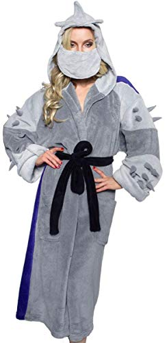 Ninja Turtles Men's TMNT Shredder Adult Costume Robe, Silver/Purple, One -