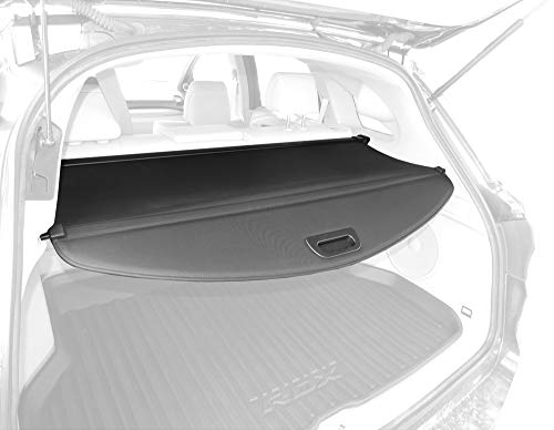 Tyger Black Retractable SUV Rear Trunk Cargo Cover Shield Fits 12-15 Acura RDX (with Power Lift Gate ONLY)