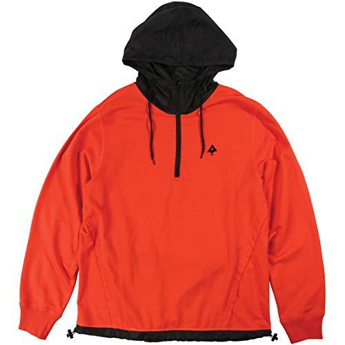 (LRG Men's Zone Half Zip Hoody,Large,Pureed Pumpkin)